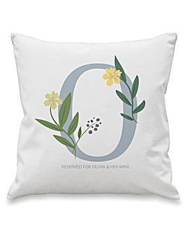 Floral Initial Cushion