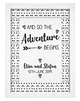 Personalised Adventure Begins Wall Art