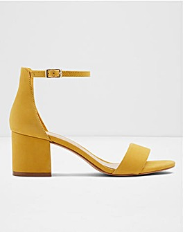 Aldo Villarosa Leather Block Heels Wide E Fit