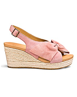 Ugg Camilla Suede Bow Espadrille Wedge
