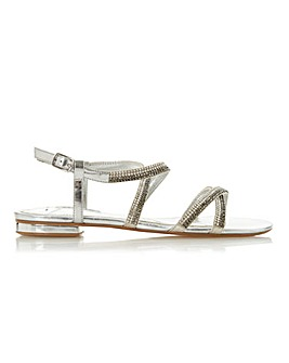 Dune Neavve Leather Strappy Sandal Wide E Fit