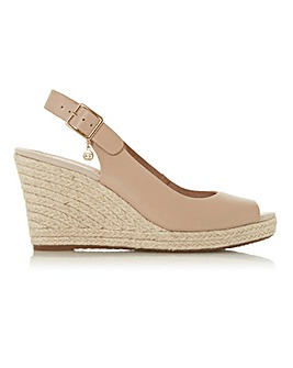 Dune Knox Espadrille Wedge Wide Fit