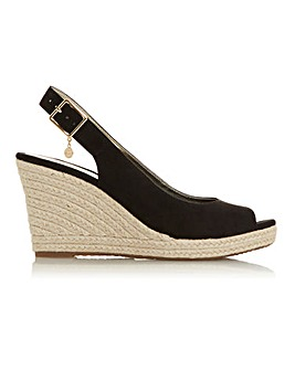 Dune Knox Espadrille Wedge Wide E Fit