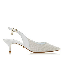 Dune Cinda Slingback Court Wide E Fit