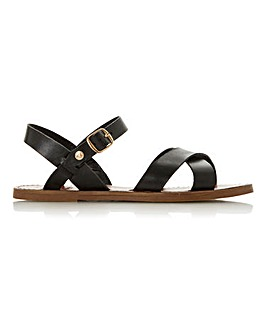 Dune Laila Leather Sandal Wide E Fit