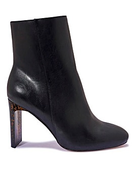 Contrast Heel Ankle Boot Standard Fit