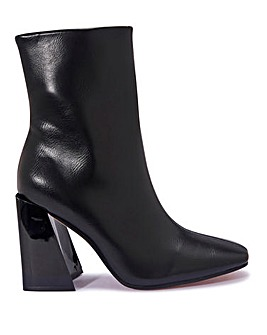 Flared Heel Ankle Boot Standard Fit