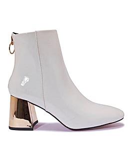 Patent Block Heel Boots Standard Fit