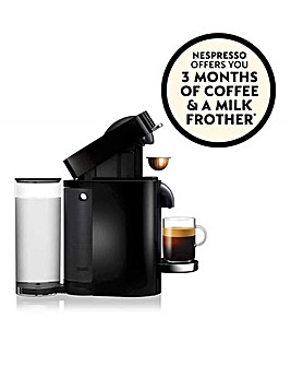 FREE GIFT! Nespresso by Magimix Vertuo Plus Black Capsule Coffee Machine