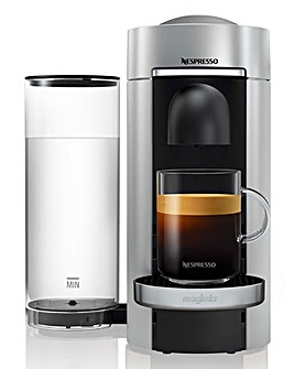FREE GIFT! Nespresso by Magimix Vertuo Plus Silver Capsule Coffee Machine