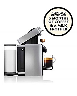 FREE GIFT! Nespresso by Magimix Vertuo Plus Silver Capsule Coffee Machine