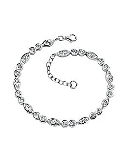 Sterling Silver Marquise Bracelet
