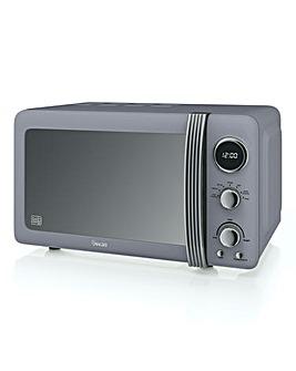 Swan SM22030GRN 20Litre Retro Digital Microwave - Grey