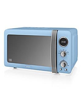 Swan SM22030GRN 20Litre Retro Digital Microwave - Blue