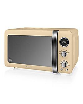 Swan SM22030GRN 20Litre Retro Digital Microwave - Cream