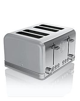 Swan Retro 4 Slice Grey Toaster