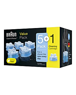 VALUE PACK Braun 6 Clean & Renew Charging Station Cartridges