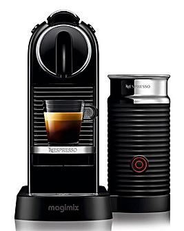 Nespresso Citiz White Capsule Coffee Machine with Aeroccino by Magimix