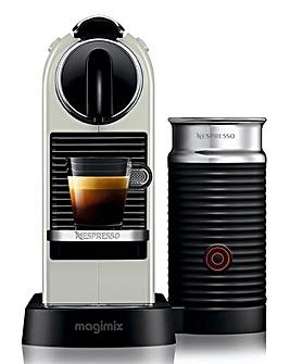Nespresso Citiz Black Capsule Coffee Machine with Aeroccino by Magimix