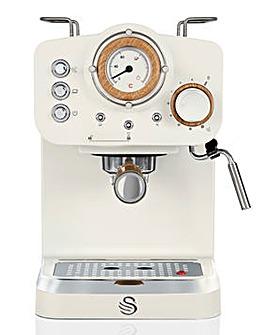 Swan Nordic White Pump Espresso Coffee Machine