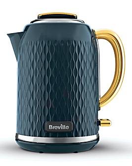 Breville VKT171 Curve Jug Blue and Pale Gold Kettle