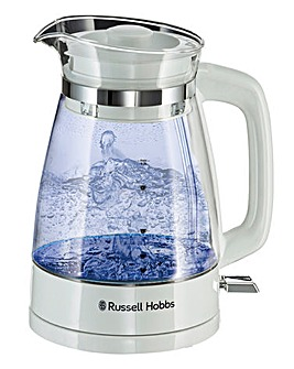 Russell Hobbs 26081 Classic White Glass Kettle
