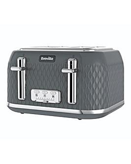 Breville VTR013 Curve 4 Slice Grey Toaster