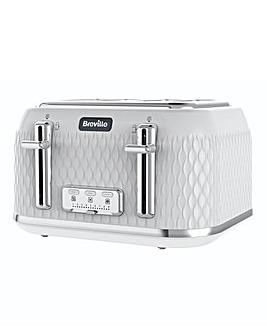 Breville VTT911 Curve 4 Slice White Toaster