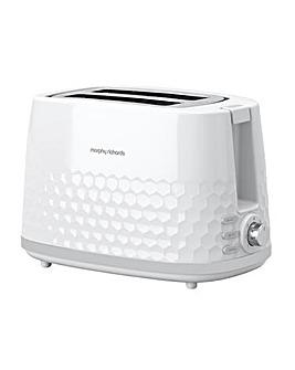 Morphy Richards 220034 Hive 2 Slice White Toaster