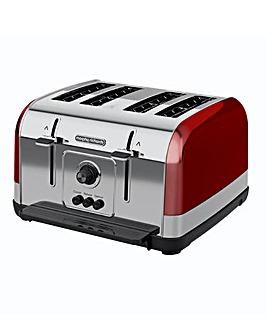 Morphy Richards 240133 Venture 4 Slice Red Toaster