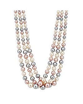 Jon Richard Pearl Multi Row Necklace