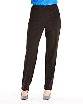 Zip Stretch Trousers Length Long