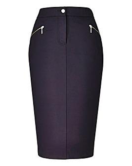 Zip Detail Pencil Skirt