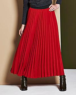 Pleat Maxi Skirt