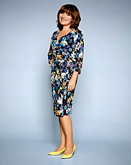 Lorraine Kelly Print ITY Wrap dress