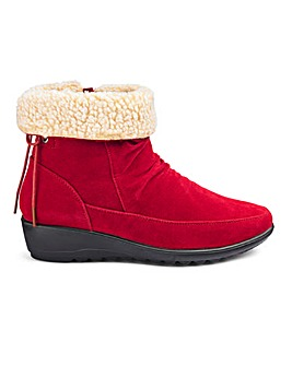 Cushion Walk Warmlined Side Zip Ankle Boots Wide E Fit