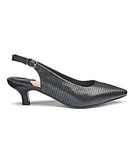 Heavenly Soles Slingback Shoes EEE Fit