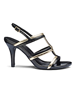Heavenly Soles Cage Heel Shoes Wide E Fit