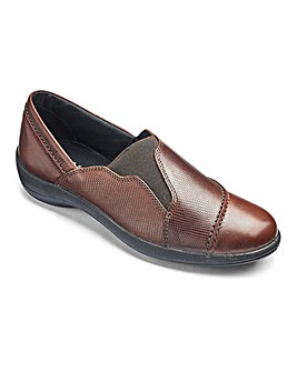 Padders Leather Slip On Shoes Extra Wide EEE Fit