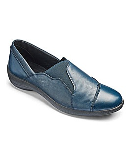 Padders Leather Slip On Shoes Wide E Fit