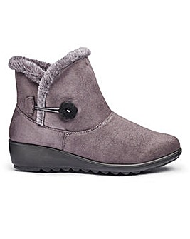 Cushion Walk Warm Lined Ankle Boots Wide E Fit