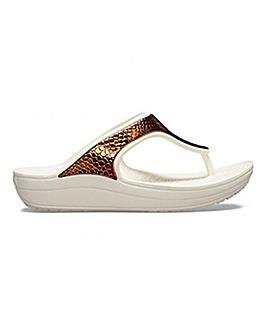 Crocs Sloane Metal Detail Flip Flops