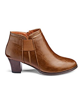 Cushion Walk Elastic Detail Ankle Boots Wide E Fit