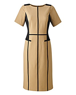 Colour Block Tailored Dress 40in