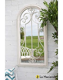 La Hacienda Scrolled Arch Garden Mirror