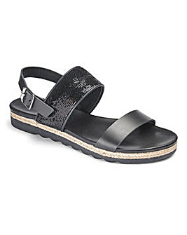 Heavenly Soles Leather Sandals D Fit