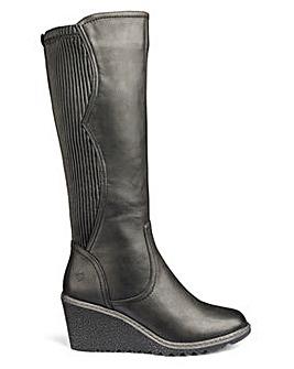 Heavenly Soles High Leg Boots Wide E Fit Super Curvy Calf
