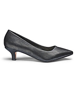 Kitten Heel Court Shoes E Fit