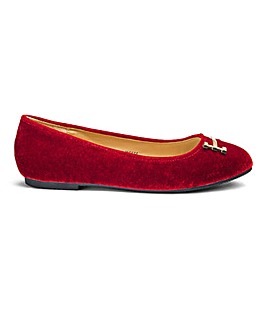Heavenly Soles Trim Ballerinas D Fit