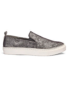 Heavenly Soles Slip On Shoes Wide E Fit